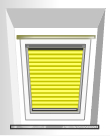 Plissee für Velux®-Fenster PVC