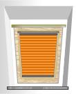 Plissee für Velux®-Fenster Holz